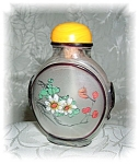 Snuff Bottle Glass Reverse Painting