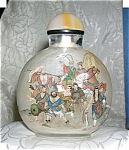 SNUFF BOTTLE Japanese Warriors Reverse painted