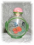 SNUFF BOTTLE Reverfse paintedd with Flowers