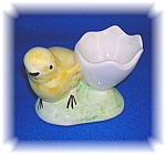 CERAMIC EGG CUP BABY CHICK ARTIST SIGNED