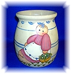 Click to view larger image of STONEWARE POTTERY JUG JAR ARTIST SIGNED (Image1)
