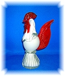 Click here to enlarge image and see more about item 0910200610: HANDCRAFTED ART GLASS ROOSTER CHICKEN DECORATION