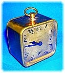 Click here to enlarge image and see more about item 0910200620: VINTAGE FRENCH TRAVEL CLOCK BRASS