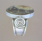 Sterling Silver Handmade Agate Ring Peru