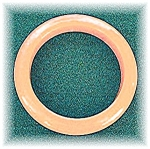Click here to enlarge image and see more about item 0911200515: Bright Tangerine  Bakelite Bangle Bracelet