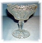 Click here to enlarge image and see more about item 0913200542: Beautiful & Ornate Pressed Glass Candy Dish