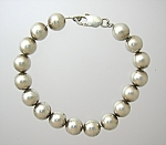 Click here to enlarge image and see more about item 09132007181: Sterling Silver 9mm Bead Bracelet 8 Inch.