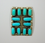 Sterling Silver and Turquoise Ring American Indian
