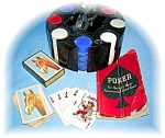 Click here to enlarge image and see more about item 0914200501: VINTAGE POKER CHIP SET, BOOK 1941