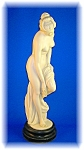 Italian White Marble Lady Statue Signed