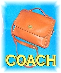 COACH TAN LEATHER HANDBAG PURSE  WITH SHOULDER STRAP..