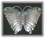 Click to view larger image of Sterling Silver Turquoise Butterfly Brooch (Image1)
