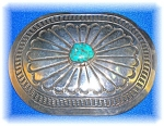 Click to view larger image of Sterling Silver Turquoise Belt buckle (Image1)
