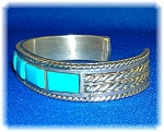 Click to view larger image of Jackson Pino Sterling Silver Turquoise Cuff USA (Image1)