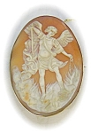 Cameo Brooch Roman God Victorian Shell 9ct Gold