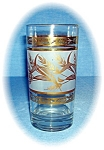 Click here to enlarge image and see more about item 0915200522: VINTAGE GOLD WHEAT PATTERN TUMBLERS