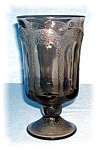 Smoked Grey Glass Footed  Water Goblet