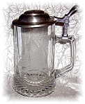 Click here to enlarge image and see more about item 0915200526: STEIN GLASS GERMAN BEER  WITH LID