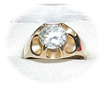 Click to view larger image of  Ring  Antique 10K Gold And 1 1/2ct CZ (Image1)