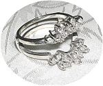 Ring 14K White Gold & Diamond  Guard