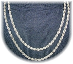 41 Inch Silver Rope Necklace