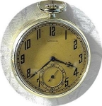 Click here to enlarge image and see more about item 0917200216: LONGINES 14K Gold Fill Gentlemans Pocket Watch