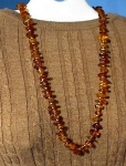 26 Inch Strand Of Golden Amber Nugget Beads