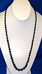 Click to view larger image of Black Faceted Glass Jet Bead Necklace (Image1)