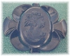 Click to view larger image of  Black 3 Inch Bakelite Cameo Brooch (Image2)