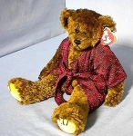 Click here to enlarge image and see more about item 0918200203: TY Your'e a Class Act TYRONE Teddy Bear 1993