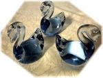 Click here to enlarge image and see more about item 0918200214: Glass Ducks Blue 3