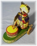 Click here to enlarge image and see more about item 0918200216: Antique Keywind Panda Bear Tin Toy
