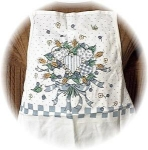 Click here to enlarge image and see more about item 0918200238: 100% Cotton Flowers and Leaves Kitchen Apron