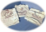 3 Hand Embroidered Floursack Kitchen Towels