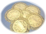 Click here to enlarge image and see more about item 0918200240:  Linen Doilies 12  Hand Made Tatting