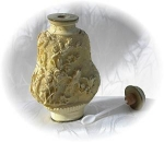 Click here to enlarge image and see more about item 0918200253: White Oriental Cinnabar Spice/Opium Bottle Wi