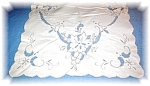 Click to view larger image of LINEN with EMBROIDERY AND CUTWORK placemat (Image1)