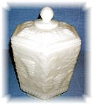FIRE-KING  MILK GLASS COOKIE JAR