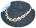 Click to view larger image of Sterling SilverChunky Signed & Gradualed Rope (Image1)