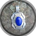 Click to view larger image of TOMMY SINGER Sterling Silver Lapis Pendant  (Image5)