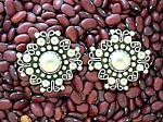 Click to view larger image of Sterling Silver Mexico Clip Earrings TH-13 ..JHR (Image1)