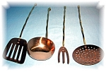 Click here to enlarge image and see more about item 0920200502: DECORATIVE COPPER AND BRASS SET
