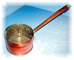 Click to view larger image of ANTIQUE HAND MADE COPPER SAUCEPAN POT (Image1)