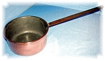 Click here to enlarge image and see more about item 0920200508: OLD COPPER SAUCEPAN COOKING POT
