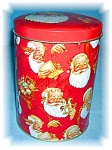 Click here to enlarge image and see more about item 0920200509: SANTA CLAUSE CANISTER TIN