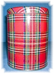TARTAN PLAID CANNISTER TIN