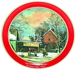 CURRIER & IVES CANISTER TIN