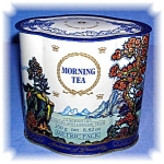 MORNING TEA CANISTER TIN FROM ENGLAND