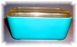 Click to view larger image of PYREX REFRIGERATOR GLASS DISH W/ LID 60s (Image1)