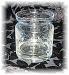 Click here to enlarge image and see more about item 0920200531: ETCHED GLASS JAR